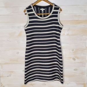 Max Studio Dress 100% Cotton Striped Knit